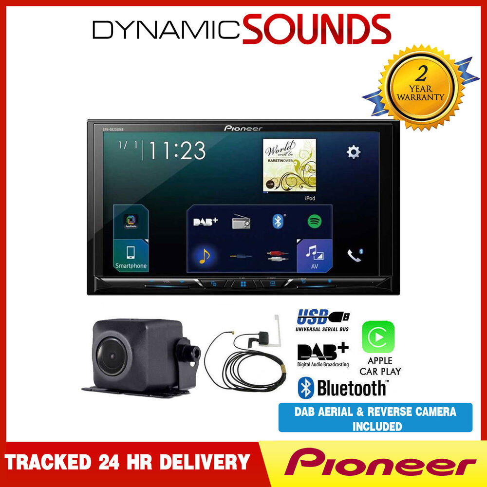 pioneer sph da230dab 7 screen apple car play bluetooth. Black Bedroom Furniture Sets. Home Design Ideas