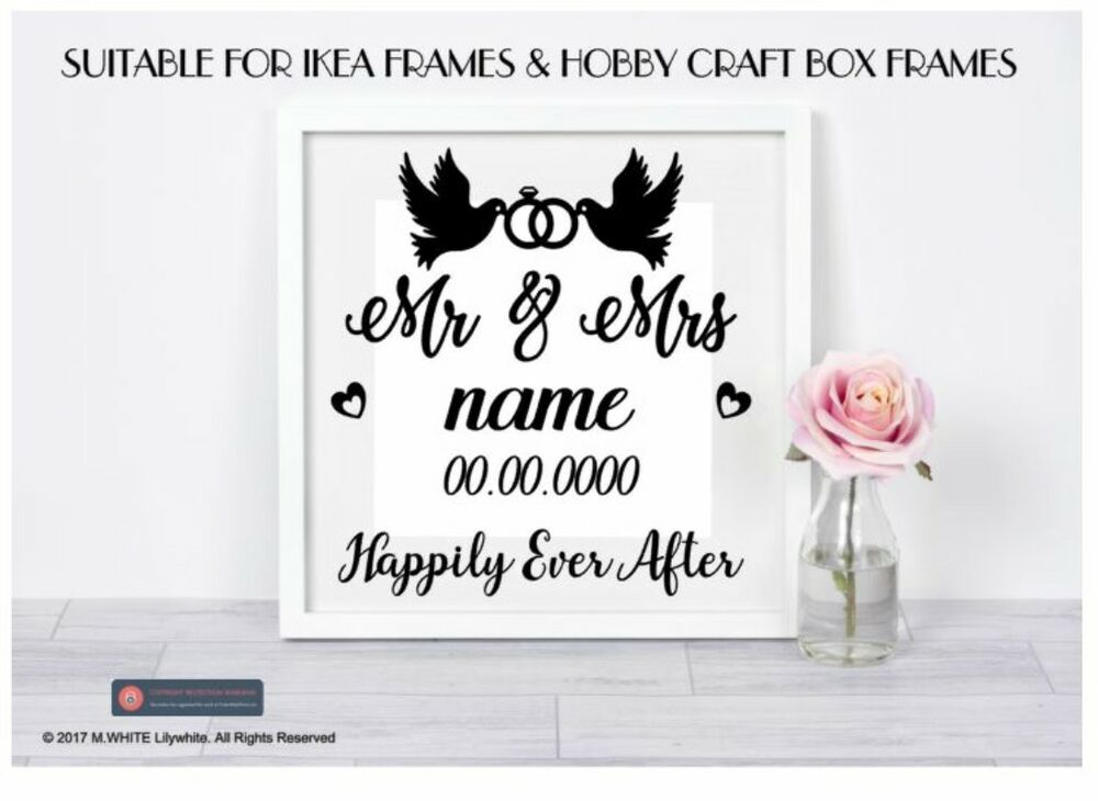 e40380964d5 Mr Mrs Wedding Sticker Personalised Gift For Ikea Hobby Craft