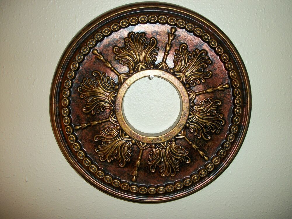 Ceiling Medallion Gorgeous Painted 14 Quot Wall Fan Decor Gold