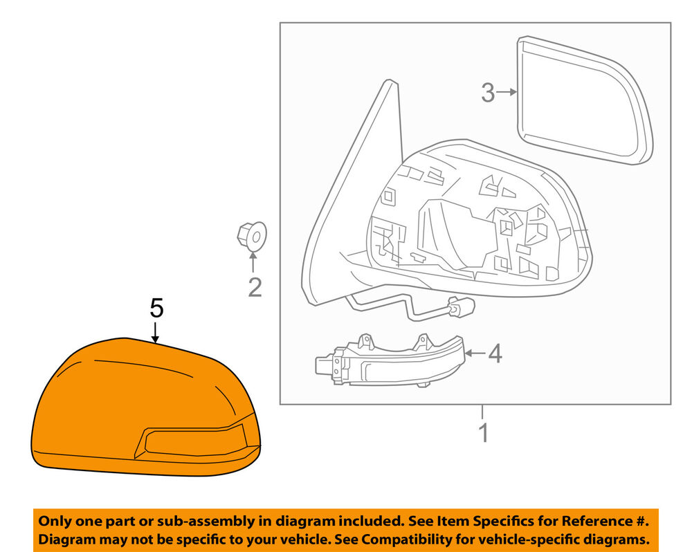 Toyota Oem Tacoma Door Side Rear View Mirror Cover Cap Trim Left Toyota 3.4  V6 Supercharger Side View Toyota 3 4 V6 Engine Diagrams