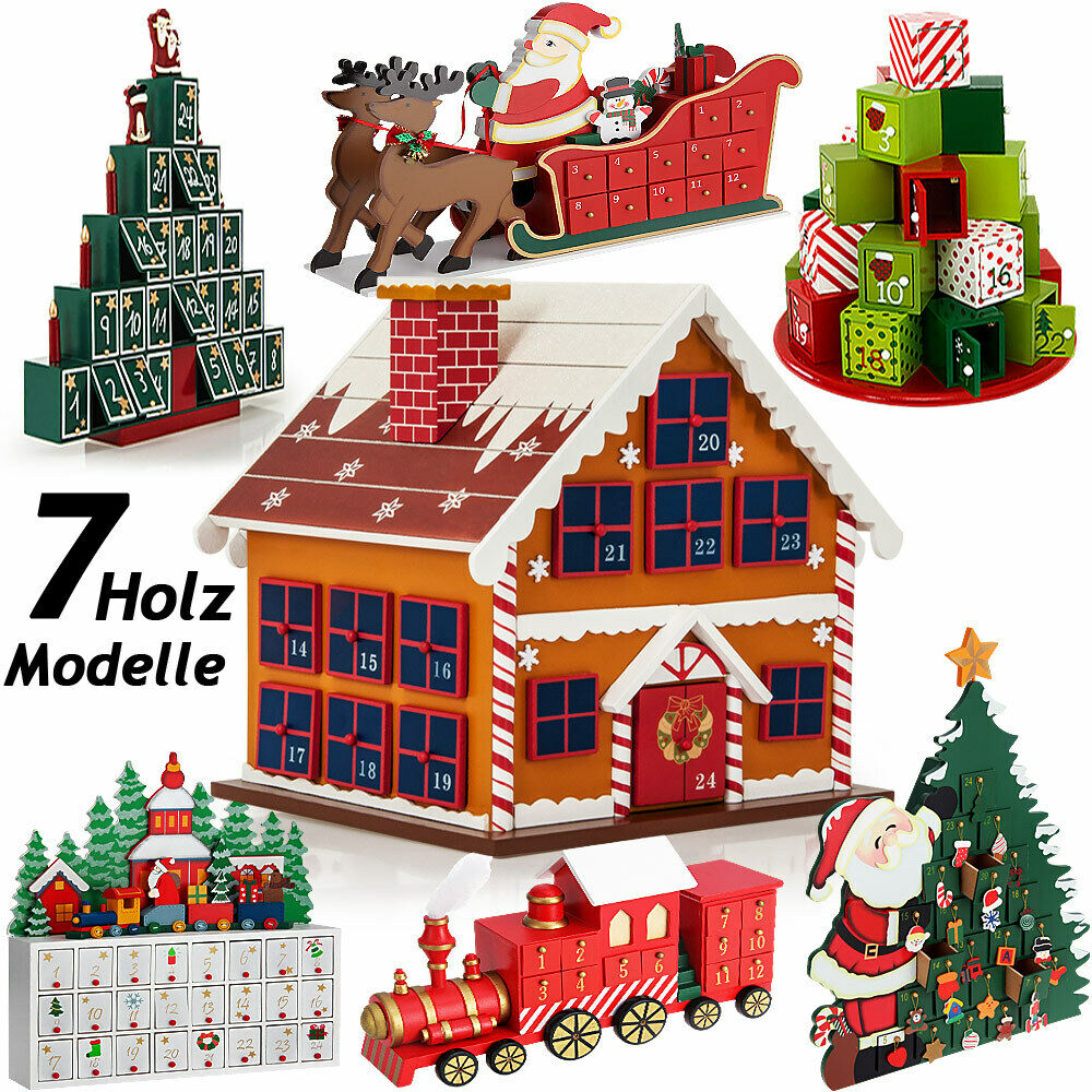adventskalender holz zum bef llen weihnachtskalender weihnachten selbstbef llen ebay. Black Bedroom Furniture Sets. Home Design Ideas