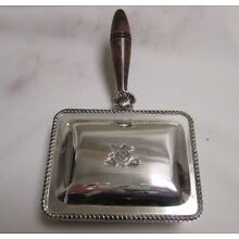 Antique Silver Plated F. B. Rogers Ash Box/Catcher Inscribed