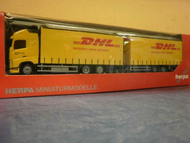 herpa lkw volvo fh4 glob aerop xl ga ktahz dhl 307888 ebay. Black Bedroom Furniture Sets. Home Design Ideas