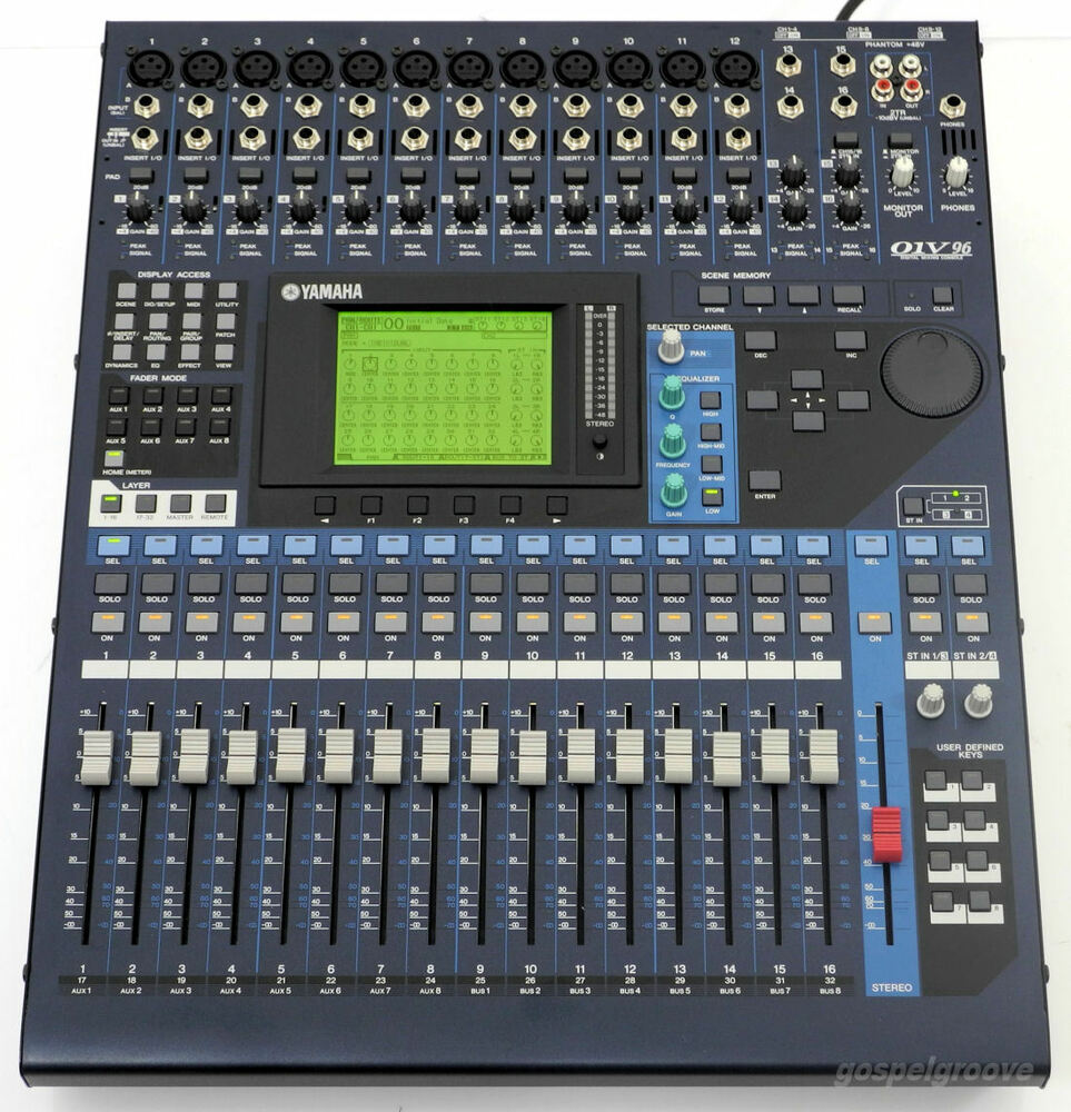 yamaha 01v96 vcm digital mixing console 01v96vcm top condition bill warranty ebay. Black Bedroom Furniture Sets. Home Design Ideas