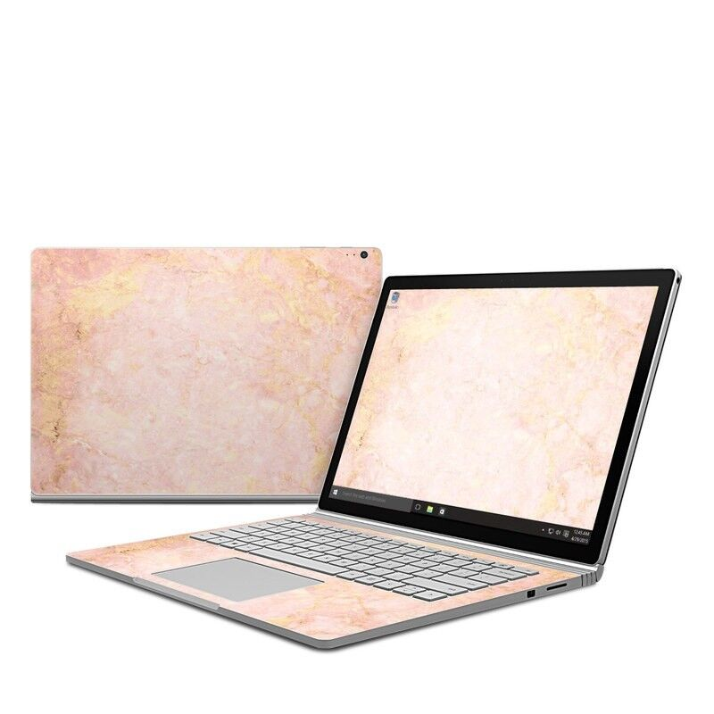 Microsoft Surface Book Skin Rose Gold Marble Decal