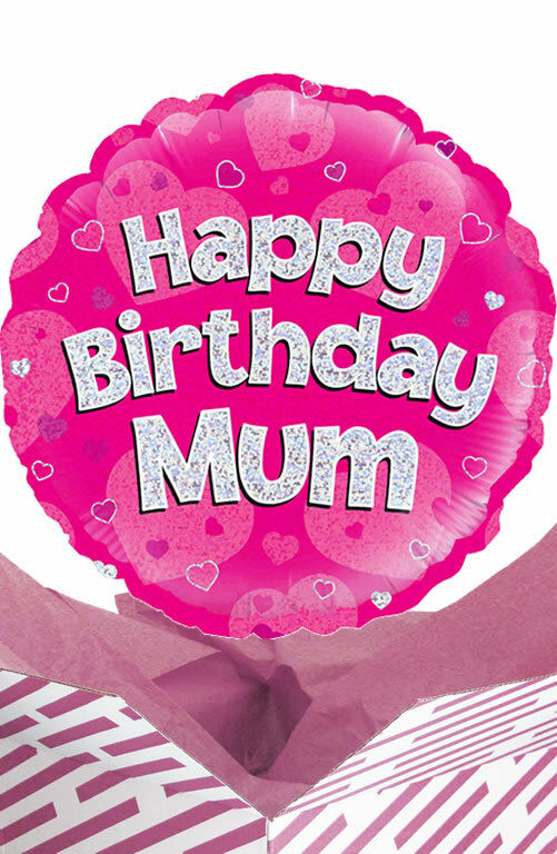 Details About Happy Birthday Mum Balloon In A Box Gift Delivered Personalised Message