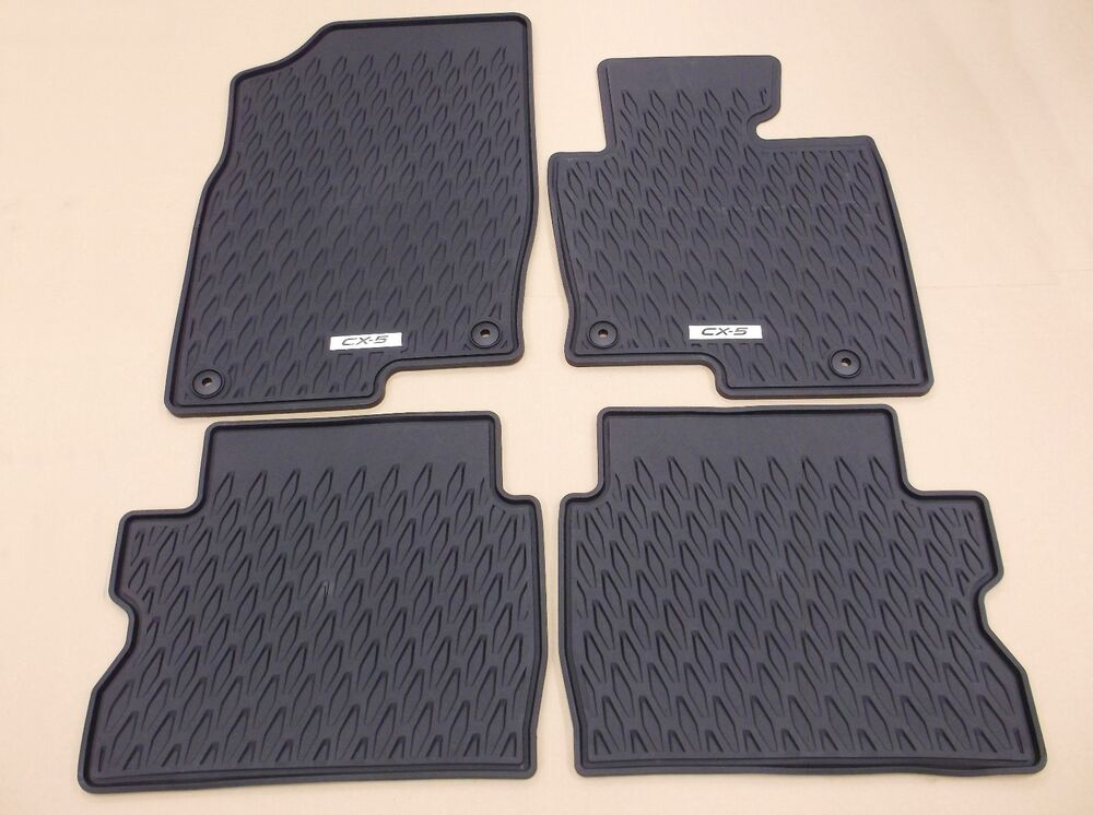 genuine mazda cx 5 2017 onwards all weather rubber floor mat mats set kb9gv0351 ebay. Black Bedroom Furniture Sets. Home Design Ideas