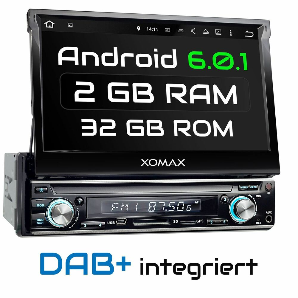 dab autoradio mit android 6 0 1 navigation dab radio wifi. Black Bedroom Furniture Sets. Home Design Ideas