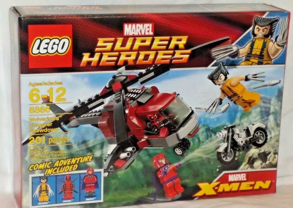 Sealed 6866 Lego X Men Wolverines Chopper Showdown With Deadpool