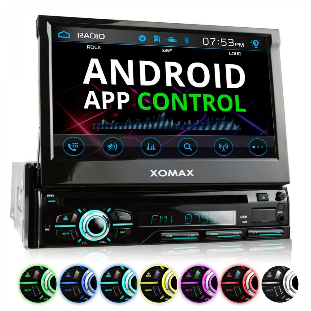 autoradio mit android app steuerung dvd cd usb sd. Black Bedroom Furniture Sets. Home Design Ideas