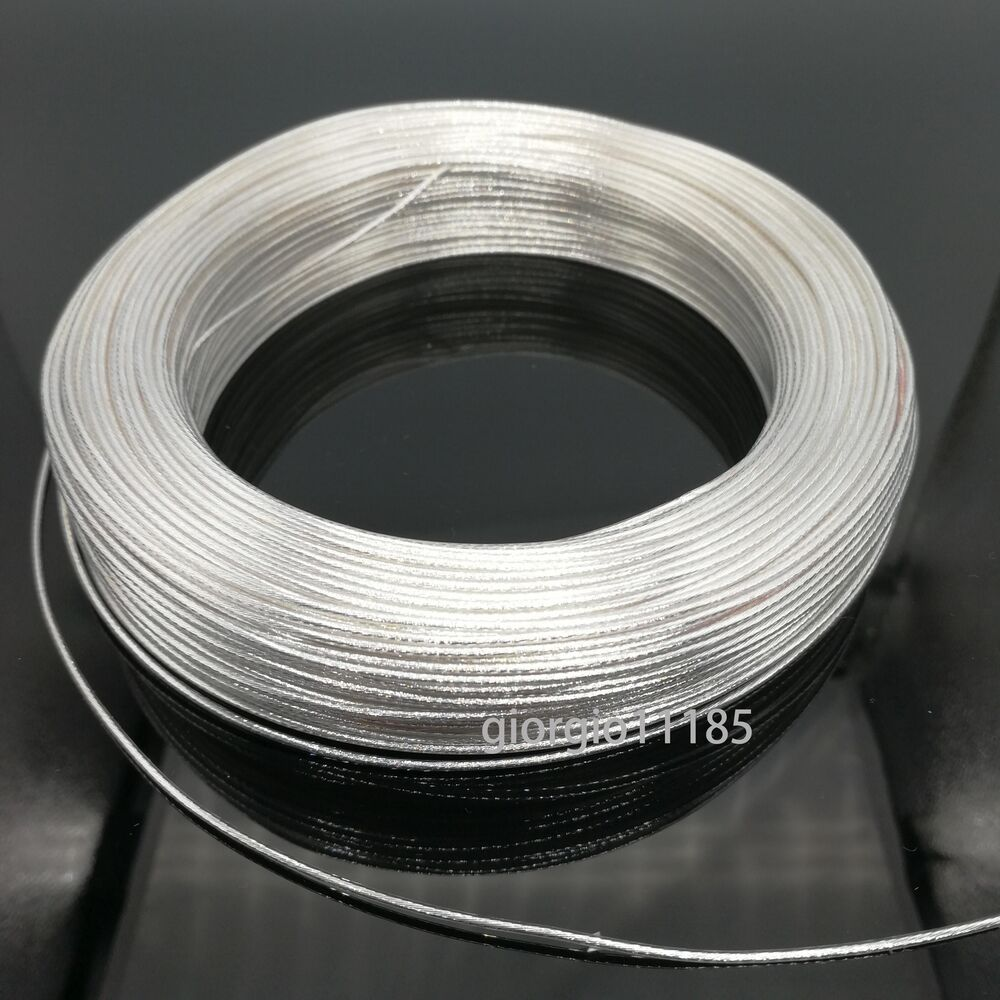 US Stock 40 Feet 20 AWG High Temperature Teflon PTFE Silver Plated ...