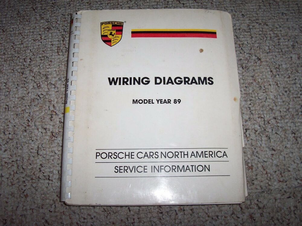 details about 1989 porsche 911 carrera 3 2 & turbo 930 3 3l electrical wiring  diagrams manual