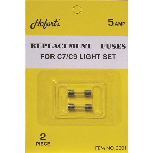 50 Pk Replacement C7/C9 Fuses For Christmas Tree Light Set