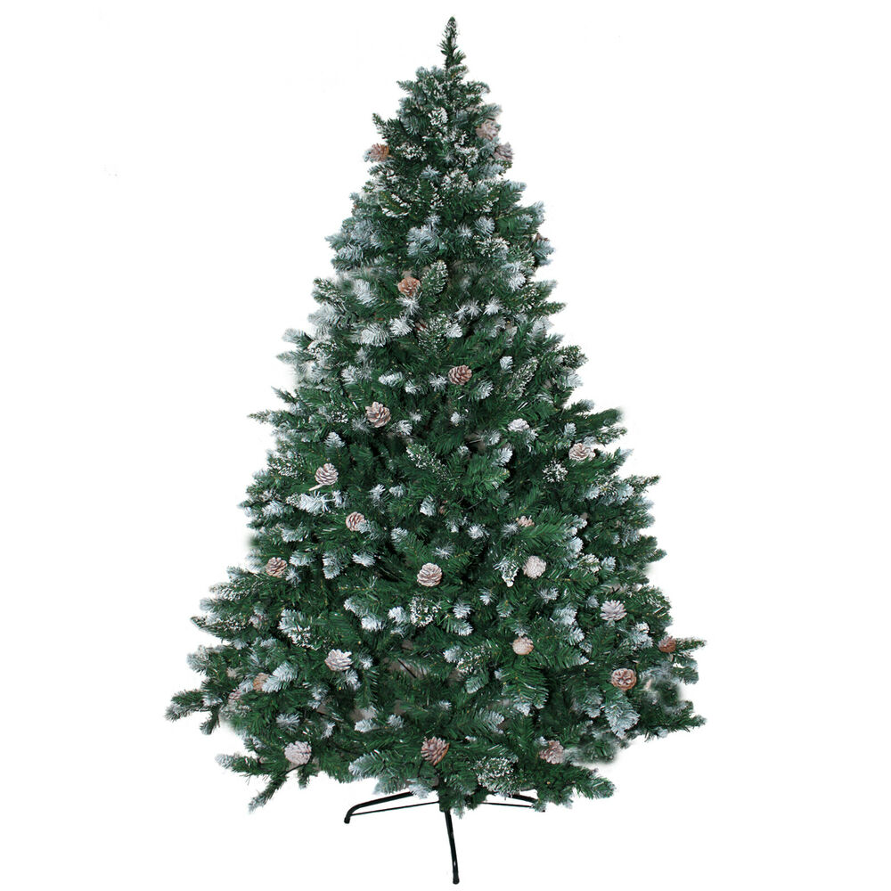 weihnachtsbaum 210cm mit schnee effekt led christbaum kunstbaum weihnachten ebay. Black Bedroom Furniture Sets. Home Design Ideas