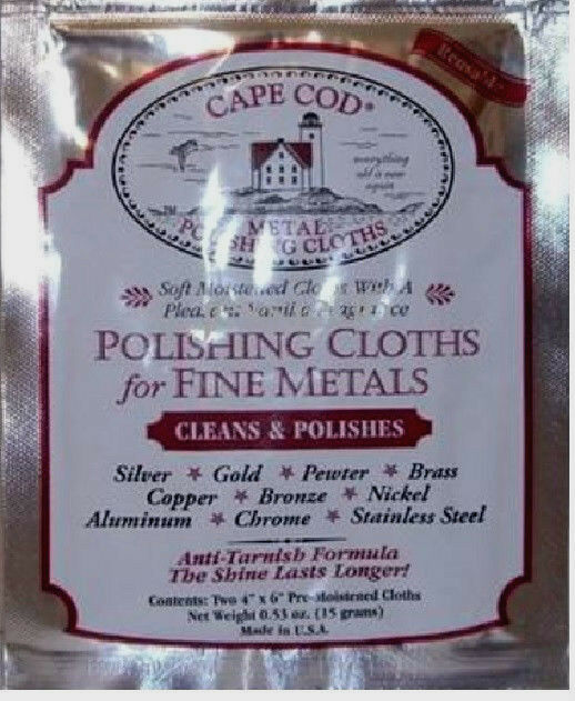 Cape Cod Metal Polishing Cloths Soft Cloths With A Vanilla