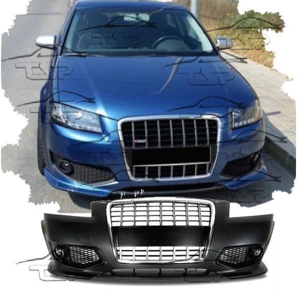 FRONT BUMPER FOR AUDI A3 8P 05-08 S3 LOOK SPOILER BODY KIT