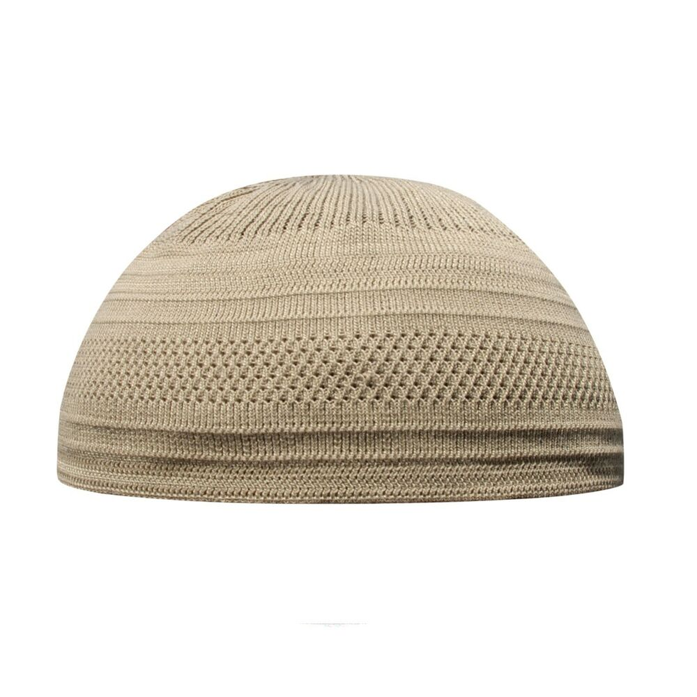 Details about TheKufi Light Brown Cotton Stretch-Knit Kufi Hat Skull Cap -  Comfortable Fit bc37198922d