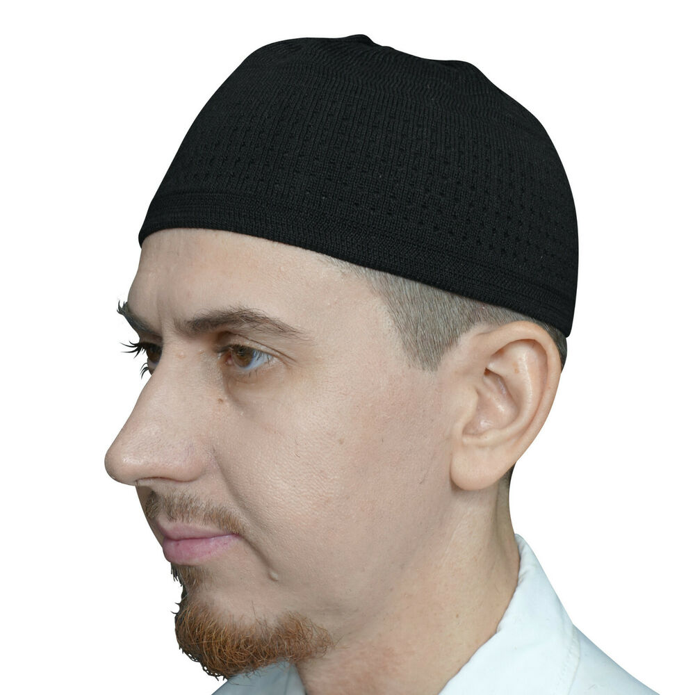 05f7d1285c4 Details about TheKufi Graphite Black Cotton Stretch-knit Kufi Hat Skull Cap  Topi Beanie