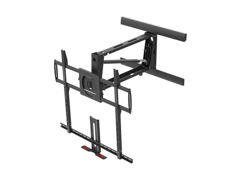 Extra large above fireplace pull down full motion wall - Pull down tv mount over fireplace ...