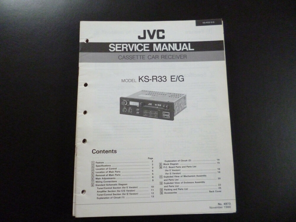 Original Service Manual JVC KS-R33 | eBay