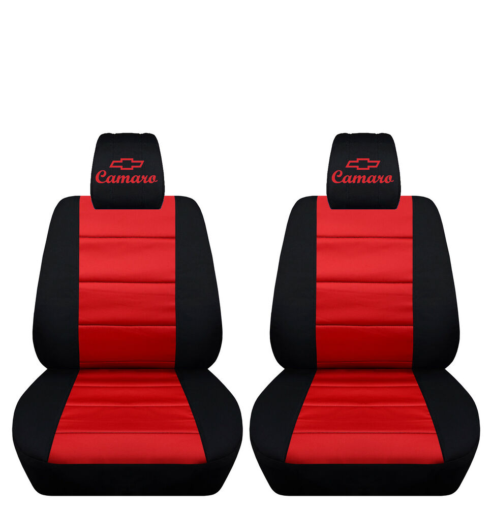 Fits 2010 To 2015 Chevrolet Camaro Black And Red Seat