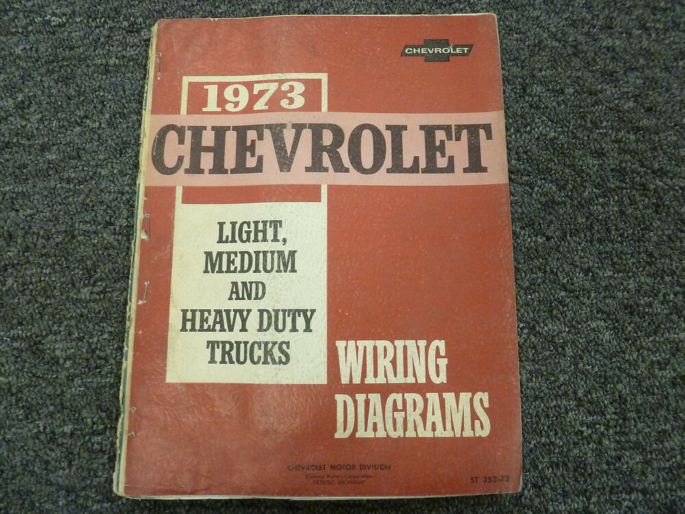 details about 1973 chevy c10 c20 c30 k10 k20 k30 truck electrical wiring  diagram manual