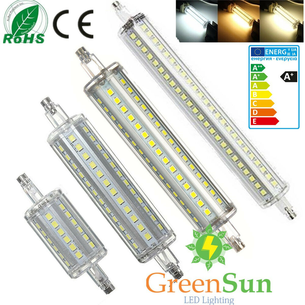 12w 135mm r7s led 2835 smd leuchtmittel stab fluter halogenstab lampe warmwei ebay. Black Bedroom Furniture Sets. Home Design Ideas