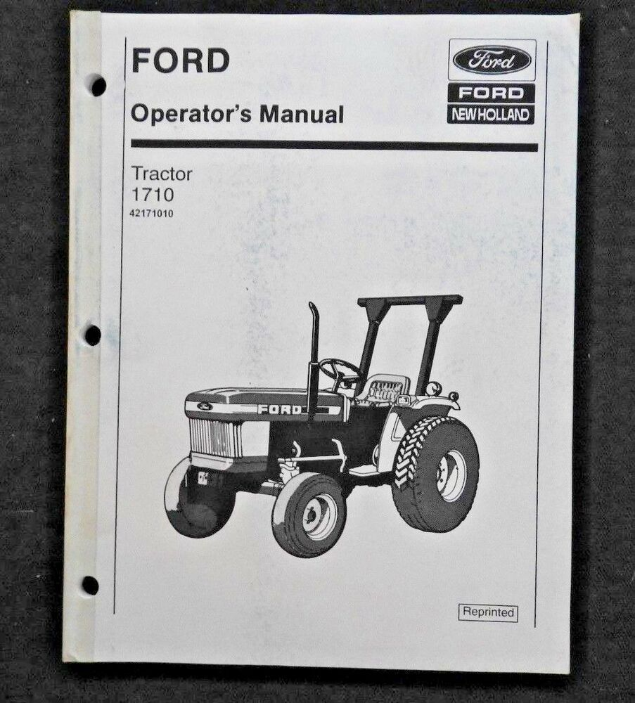 1986 Ford Tractor 1710 Parts Diagrams Electrical Wiring Harness Picture Genuine Operators Manual Nos Very Good Shape Ebay Compact