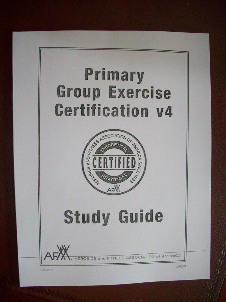 Afaa Apex Primary Group Exercise Certification V4 Completed Study