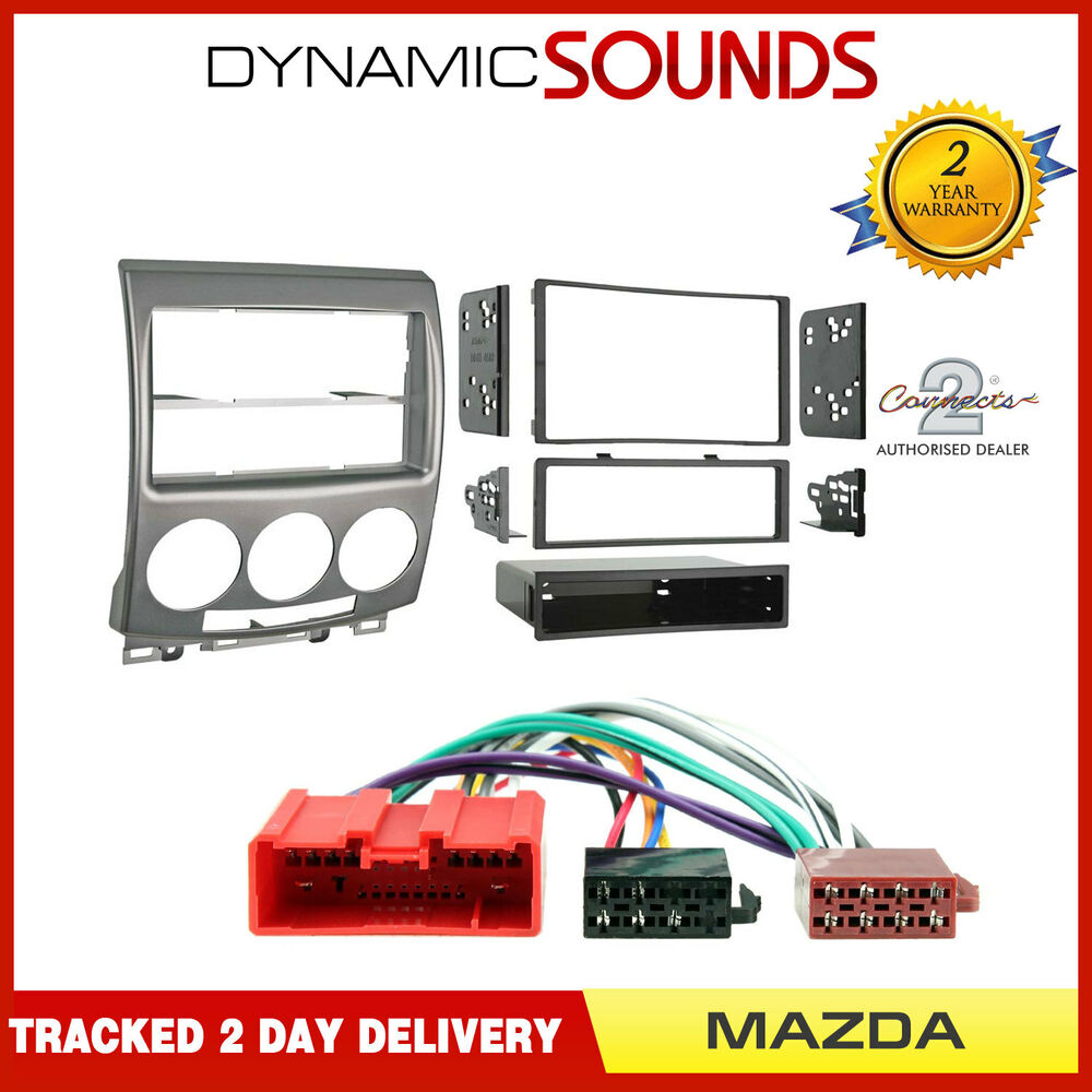 Ct23mz06 Single Double Din Car Stereo Iso Fitting Kit For Mazda 5 3 Cd Fascia Wiring Loom Ebay 2005 2010