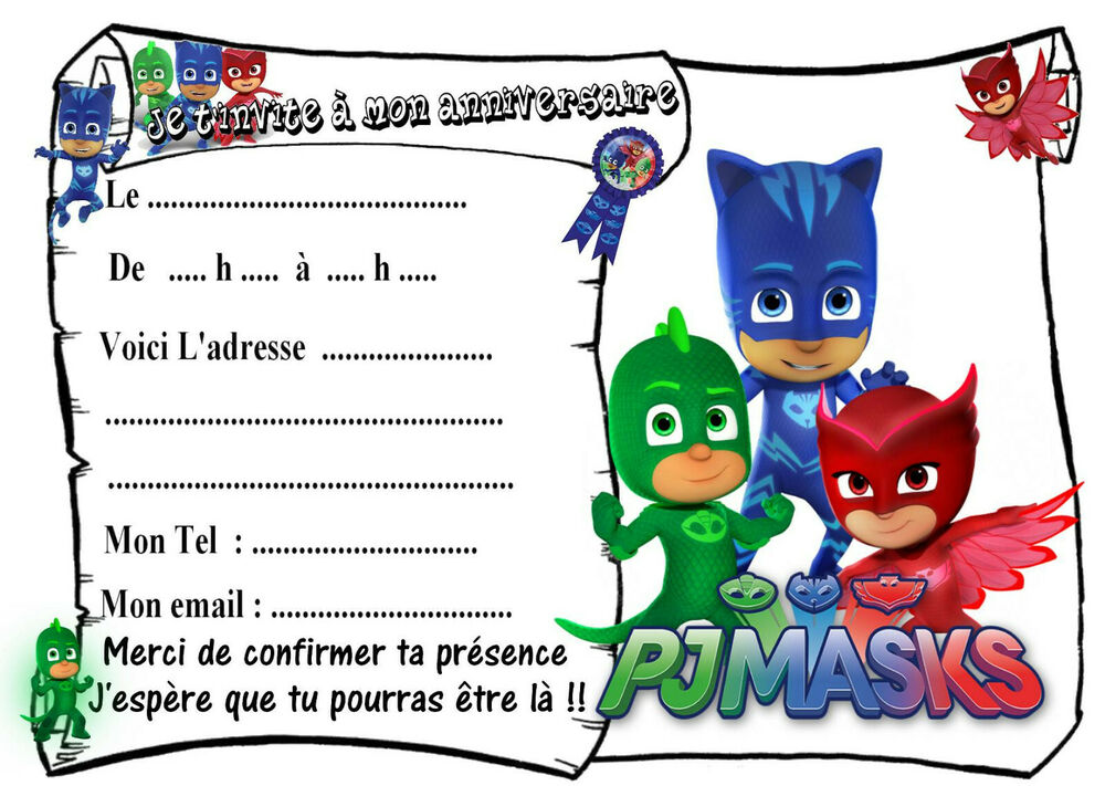 Carte D Invitation Anniversaire