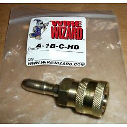 WELDING WIRE WIZARD A-1B-C-HD OUTLET FOR PFA QUICK DISCONNECT LARGER THAN 1/16''