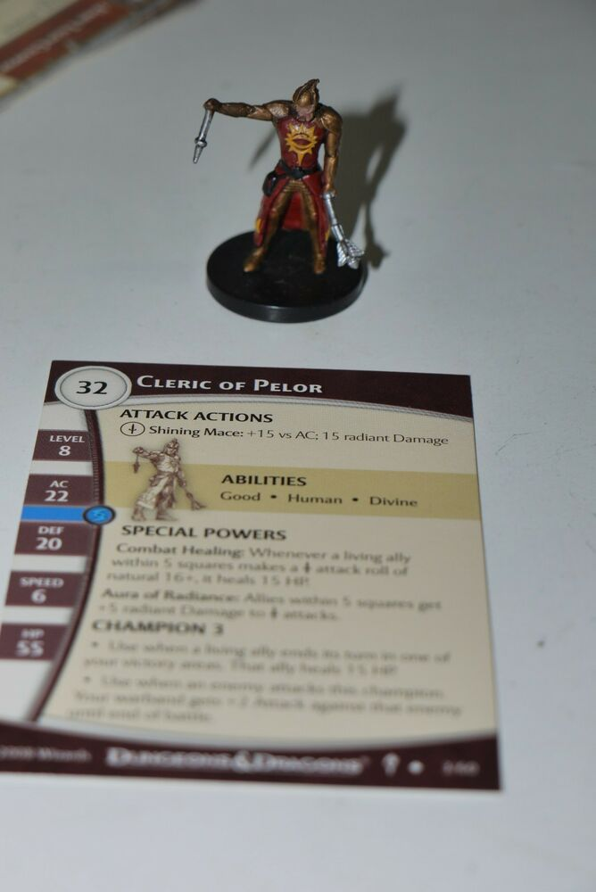 Ddm Dungeons And Dragons Miniatures Cleric Of Pelor 03 Dungeons Of