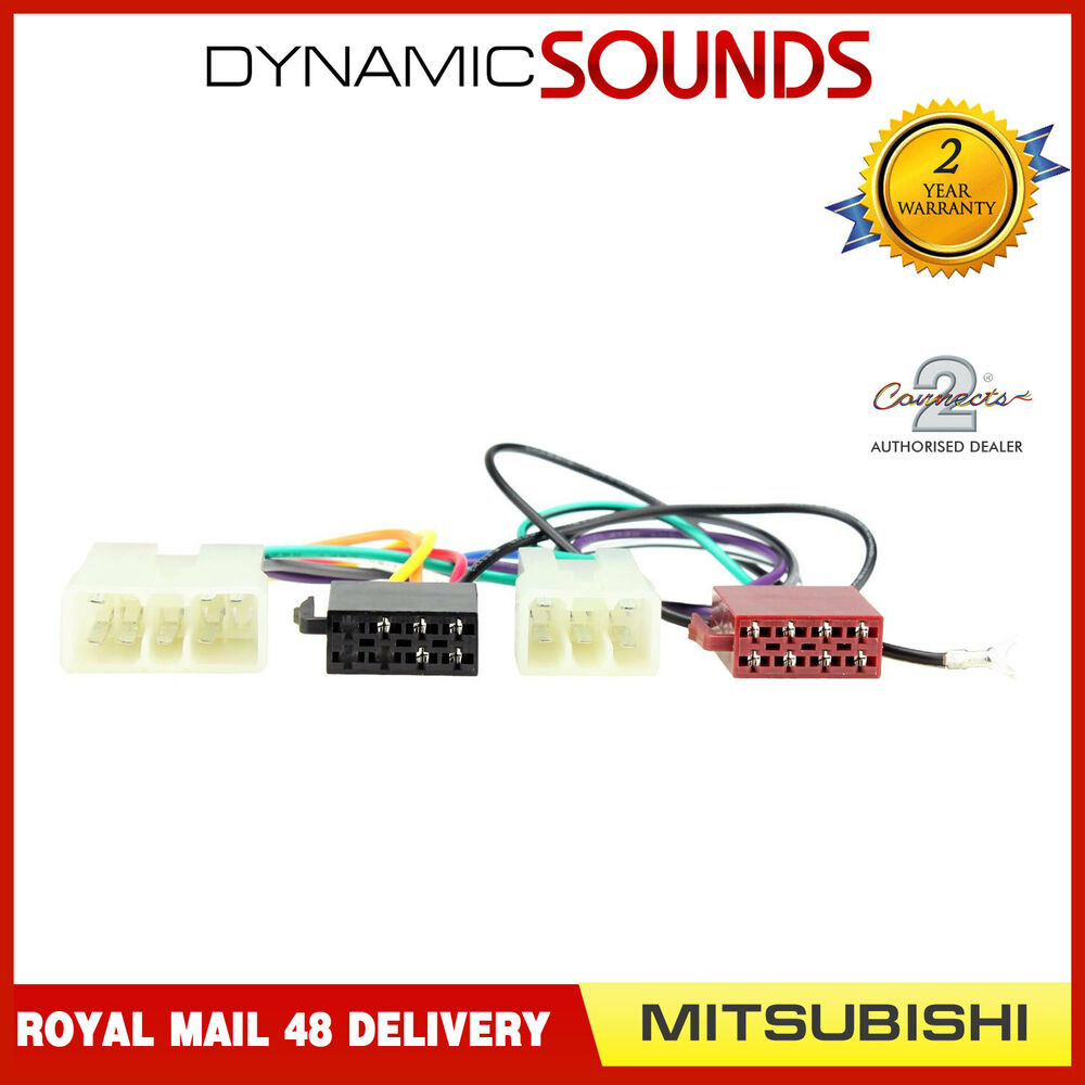 Ct20mt01 Stereo Iso Wiring Harness Adaptor Lead For Mitsubishi Adapter Models Up To 1995 3784581117377 Ebay