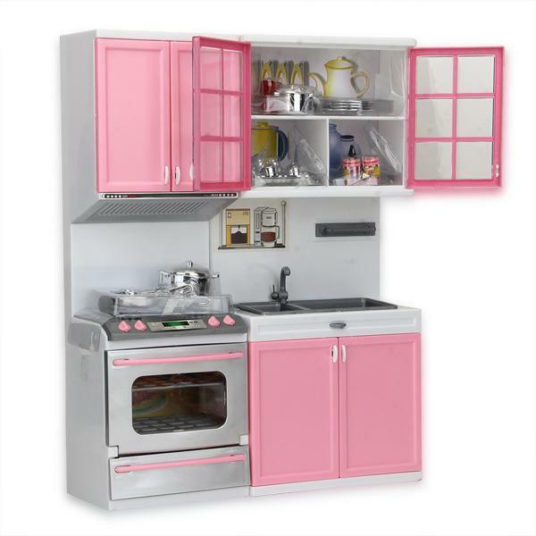 Mini Kitchen Pretend Play Cooking Set Cabinet Stove Toy For Kids Delectable Mini Kitchen Set