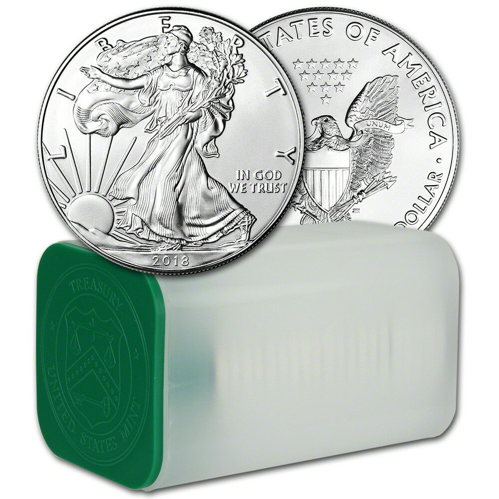2018 American Silver Eagle 1 Oz 1 1 Roll Twenty 20