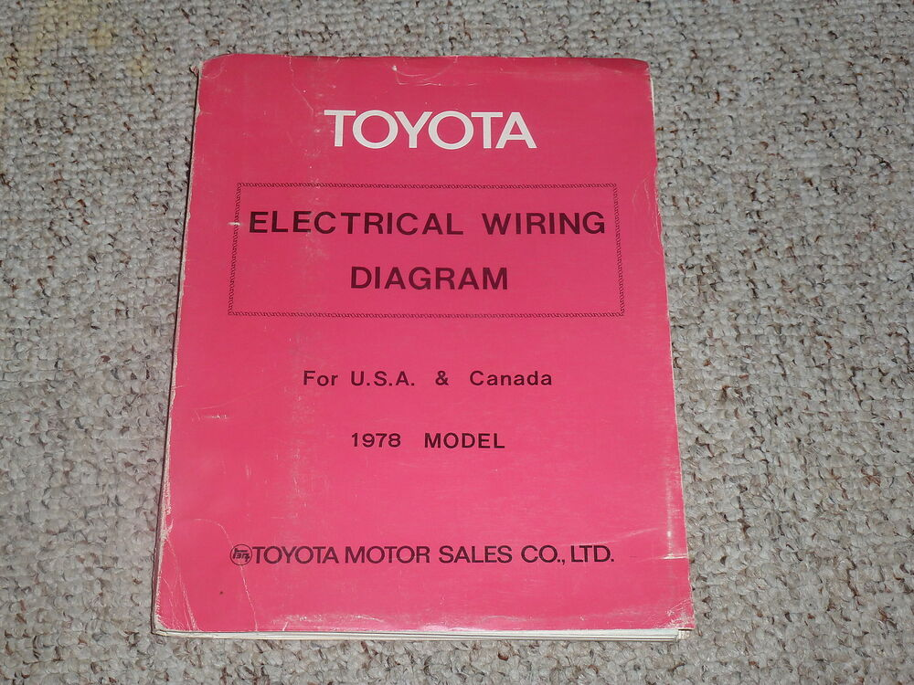 details about 1978 toyota land cruiser fj40 fj55 electrical wiring diagram  manual 4 2l 2f