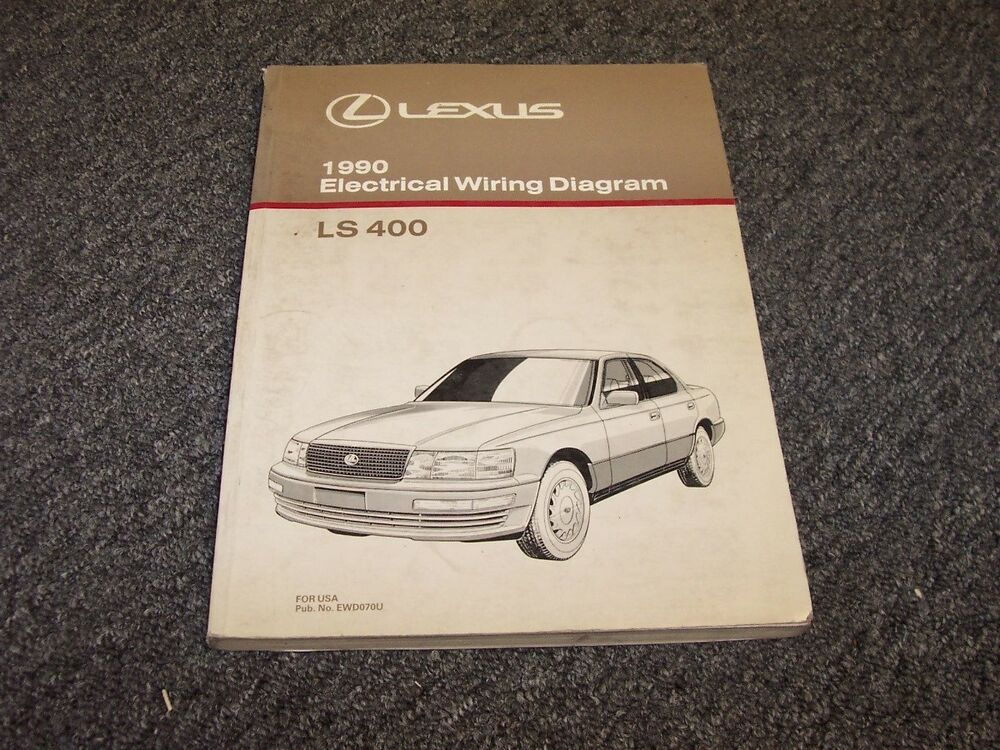 1990 Lexus Ls400 Sedan Factory Original Electrical Wiring Diagram Manual 4 0l V8