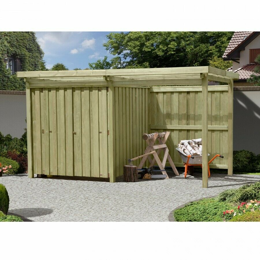 ger tehaus gartenschuppen holz typ 2 mit flachdach unterstand fahrradgarage ebay. Black Bedroom Furniture Sets. Home Design Ideas