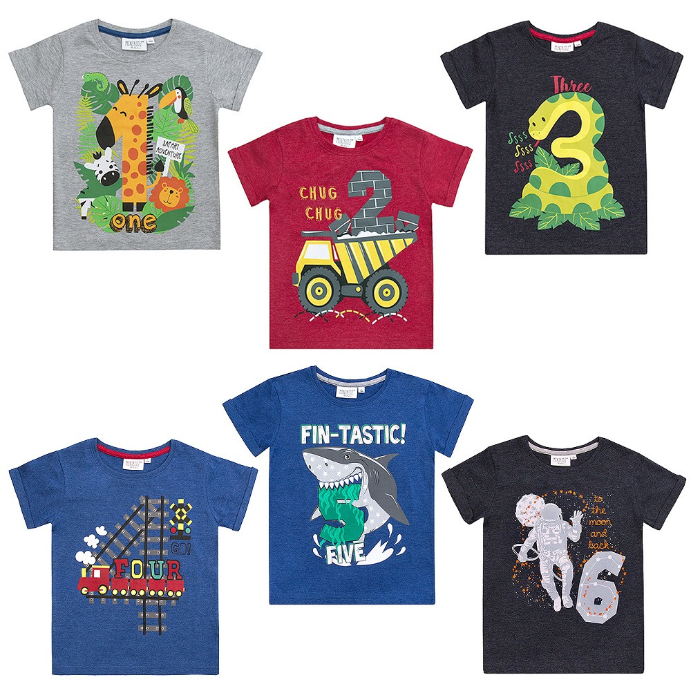 Details About Boys Birthday Number T Shirt Ages 123456 NEW With TAGS