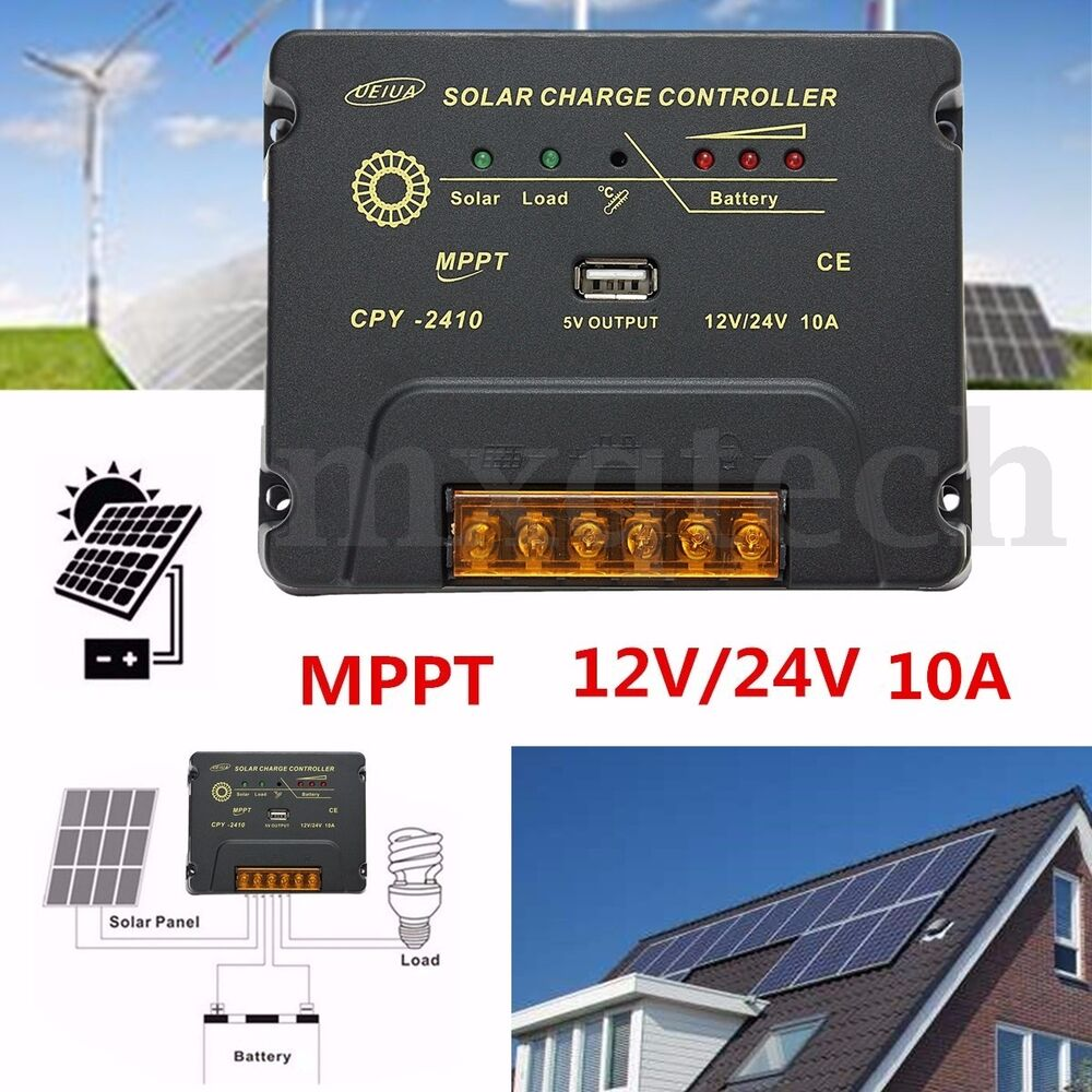 10/20/30A 12V/24V LCD Solar Controller For Solar Panel Charger ...