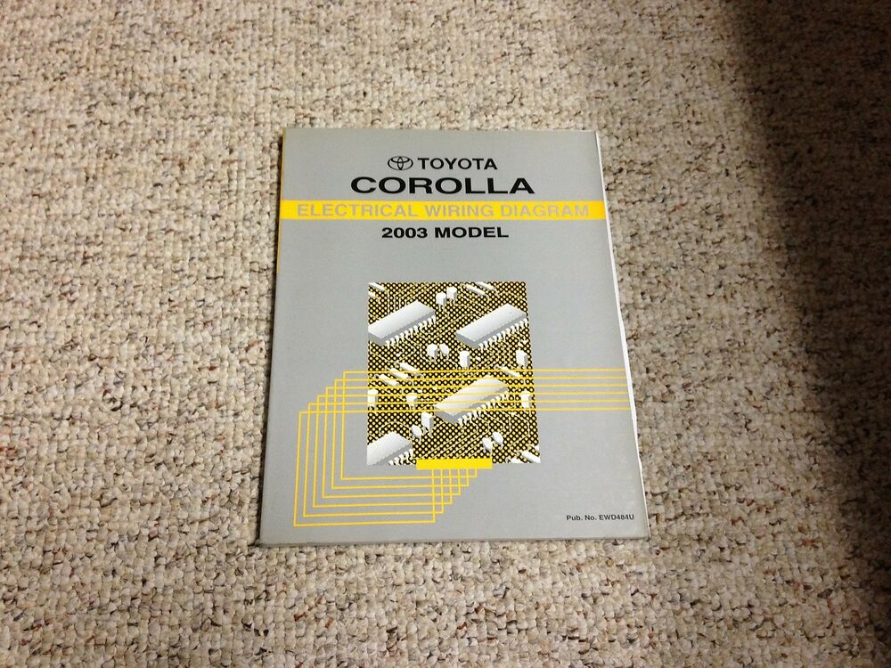 2003 Toyota Corolla Electrical Wiring Diagram Manual Ce S Le 1 8l 4cyl
