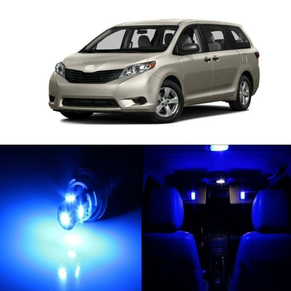 Car Led Interior Lights For 2019 Toyota Sequoia Sienna: 19 X Blue LED Interior Lights Package For 2011