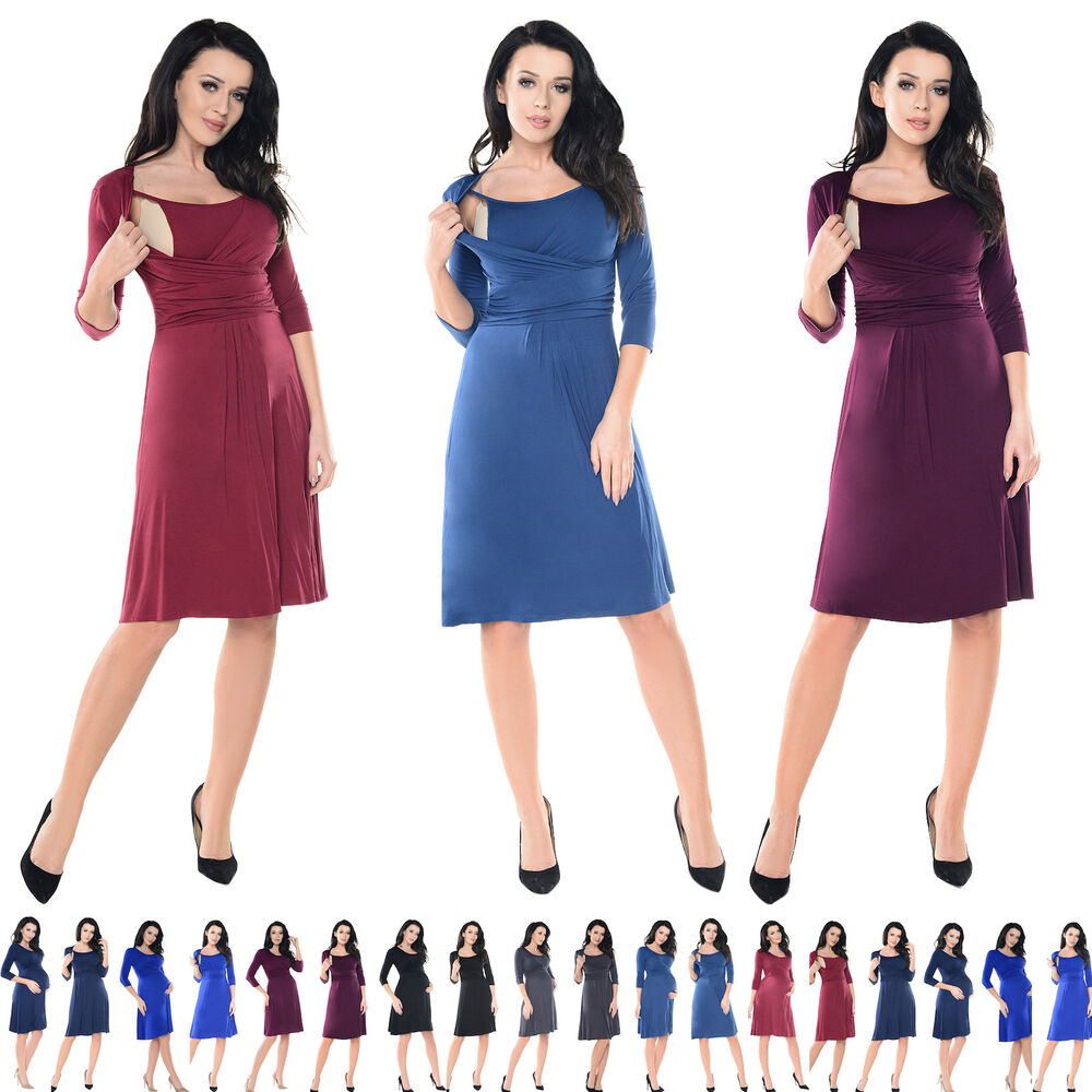 1add2beb8a6d9 Details about Purpless Maternity 2in1 Pregnancy and Breastfeeding Skater  Dress Tunic Top 7240