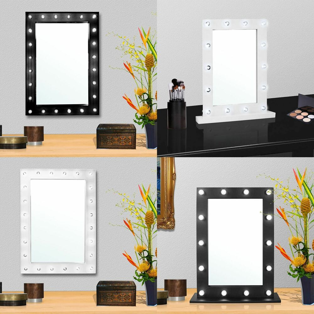 Large Vanity Mirror With Light Hollywood Makeup Mirror Wall Mounted