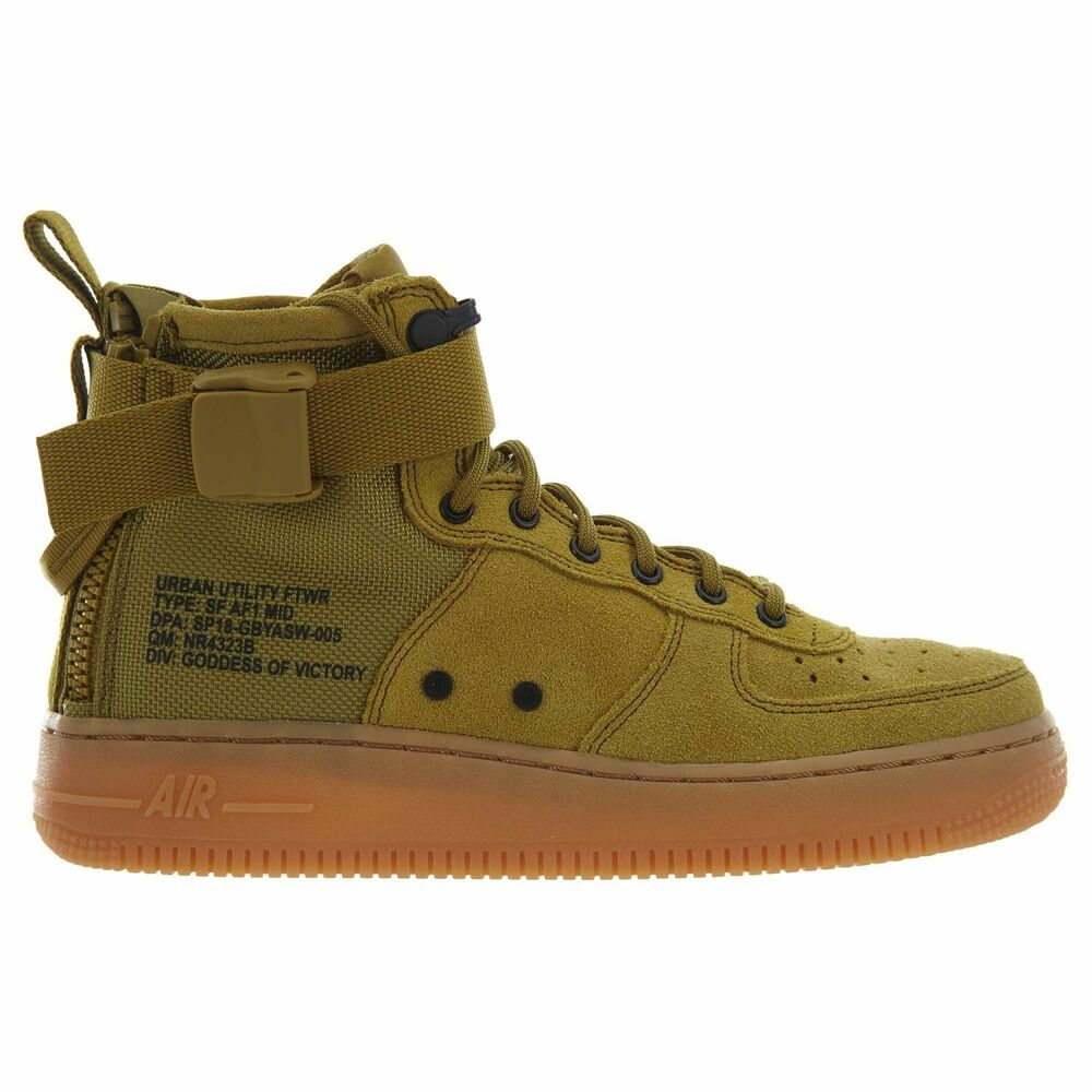 Details about Nike SF Air Force 1 Mid Big Kids AJ0424-300 Desert Sand Suede  Shoes Size 5.5 bbefbf3ac