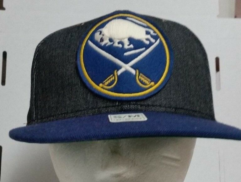 92da999b7de Details about CCM NHL HOCKEY Buffalo Sabres FITTED S M Blue Yellow Hat Cap  Free shipping!