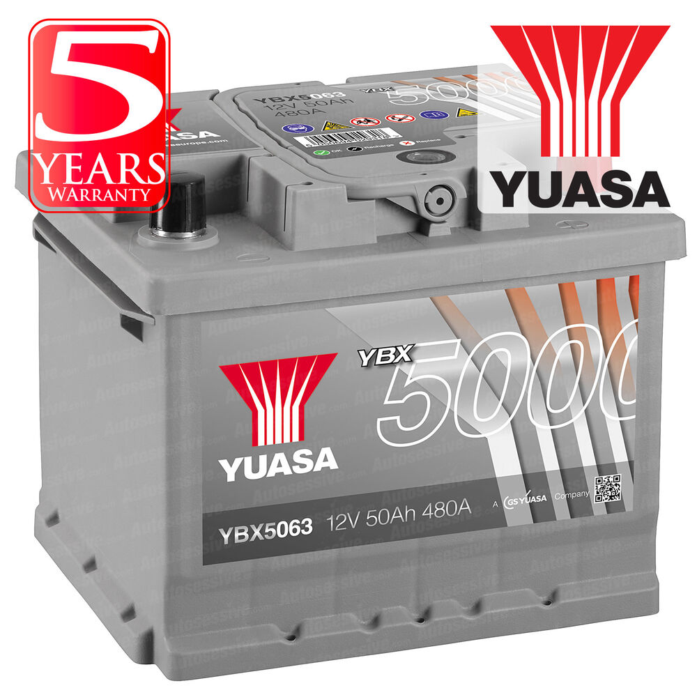 Details About Yuasa Smf Car Battery Calcium Silver 12v 50ah 480cca Soci T1 For Ford C Max 1 6