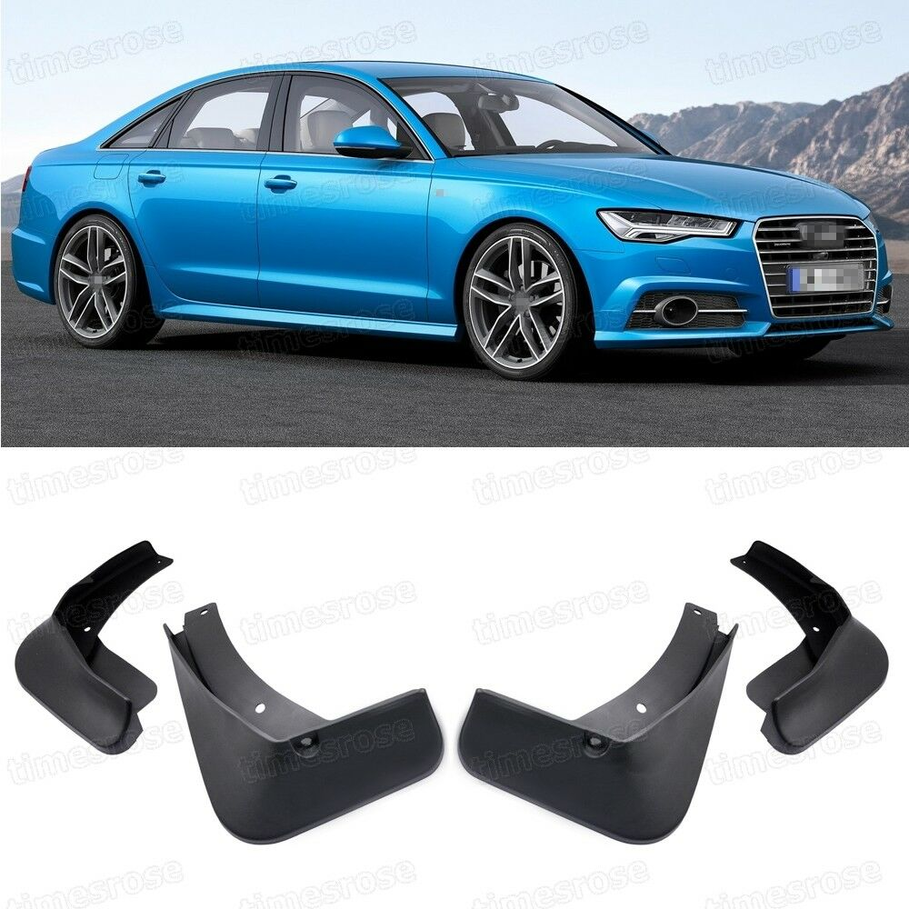 4 Mud Flaps Splash Guard Fender Car Mudguard For Audi A6