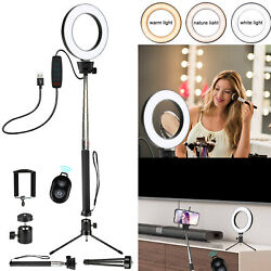 Kyпить LED Selfie Ring Light with Tripod Stand&Cell Phone Holder For Makeup Live Stream на еВаy.соm